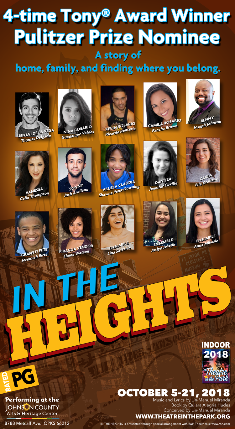 IN THE HEIGHTS poster with headshots of actors