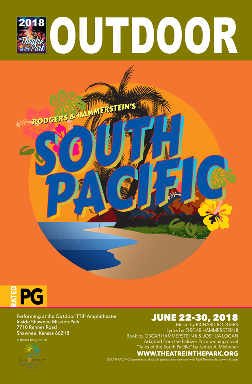 SOUTH PACIFIC show poster