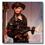 Matt Walberg as a Pirate on stage
