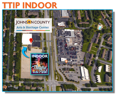a map of an ariel view of the location of the Johnson County Arts and Heritage Center